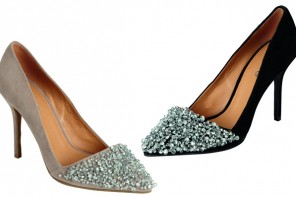 Matalan jewel front point-toe pumps
