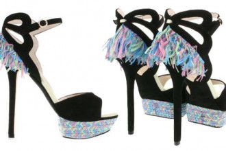 Sophia Webster raffia embellished sandals