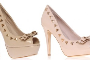 studded bow pumps