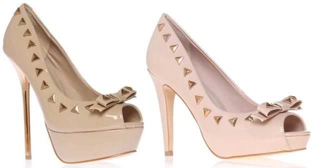 studded bow pumps Carvela Greta & Gwendolyn studded bow pumps