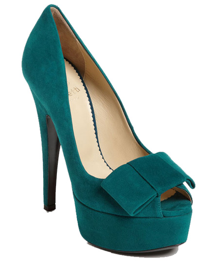 teal suede peep toes Taccetti teal suede peep toe pumps