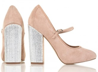 Topshop Guilty2 Mary Jane crystal heel shoes