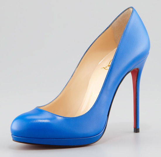 Friday Fix: Christian Louboutin 'Filo' bright blue pumps ...