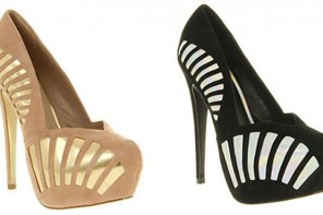 Office 'Orbital' suede art deco style platforms