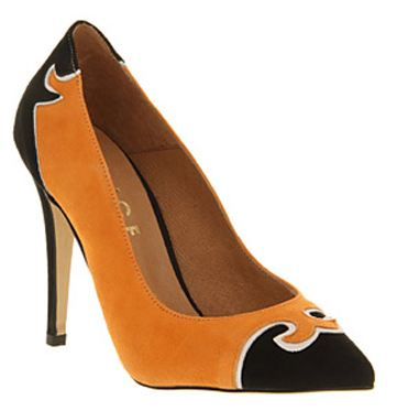 Office 'Sheriff' pumpkin suede pointed-toe pumps