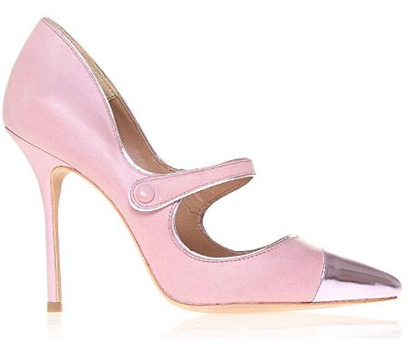 Kurt Geiger 'Mandy' pink leather Mary Janes