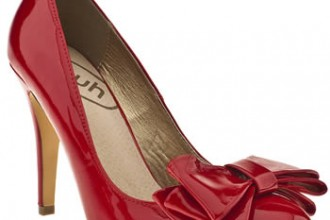 Schuh 'Bree' red patent bow pumps