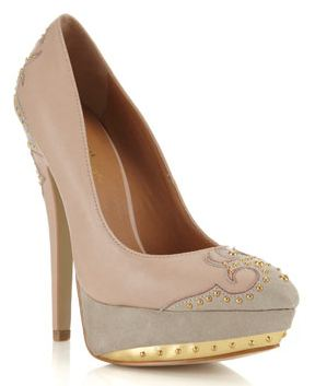 Miss Selfridge 'Sorry' nude Western pumps