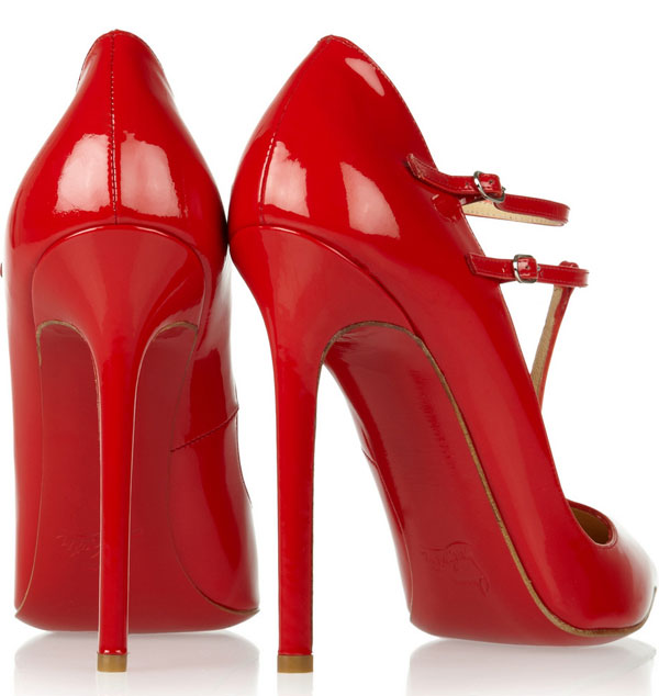 Christian Louboutin V Neck 120 patent-leather pumps