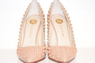 River Island pink studded shoes
