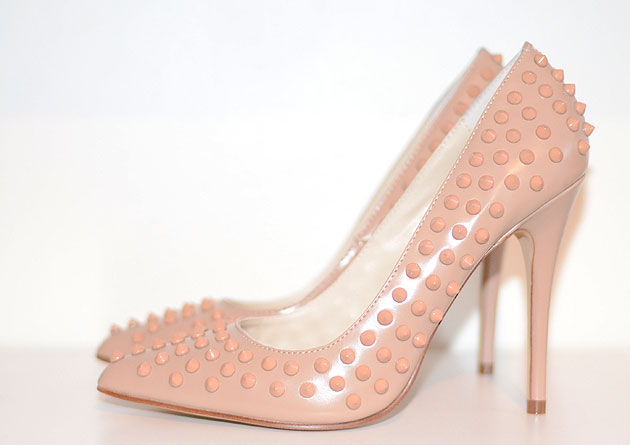 river island pink studded shoes shoeperwoman