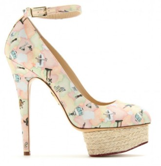 Charlotte Olympia 'Dolores' platform pumps in Discover Brazil Print