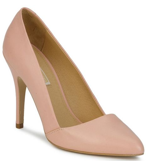 buffalo asymmetric pink court shoes