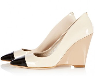 Karen Millen captoe wedge court shoes