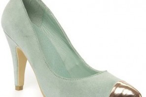 mint green shoes