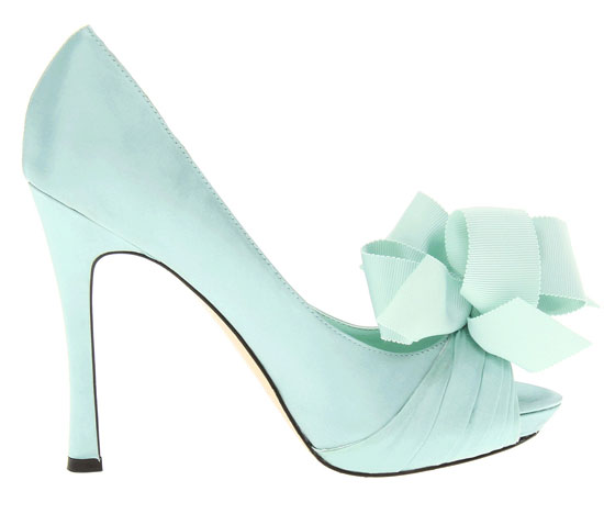 Mint green shoes: RSVP Caitlyn bow peep toes