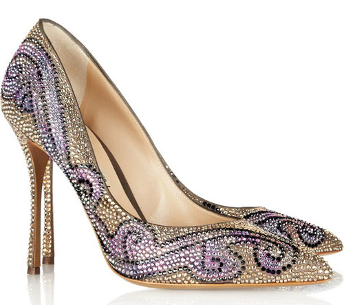 Nicholas Kirkwood shoes: crystal studded pointed pumps