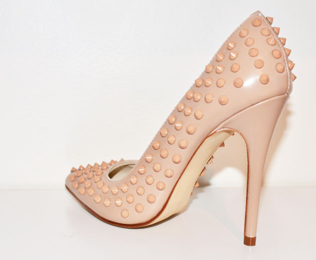 pink studded shoes