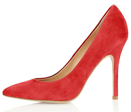 red Topshop shoes