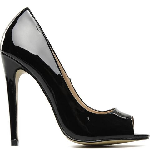 I love Shoes black patent peep toes