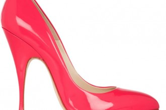 Brian Atwood Starlet neon patent-leather pumps