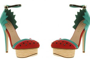 platform shoes with watermelon design
