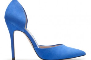 Zara blue sweetheart vamp shoes