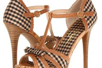 brown platform sandals with bow