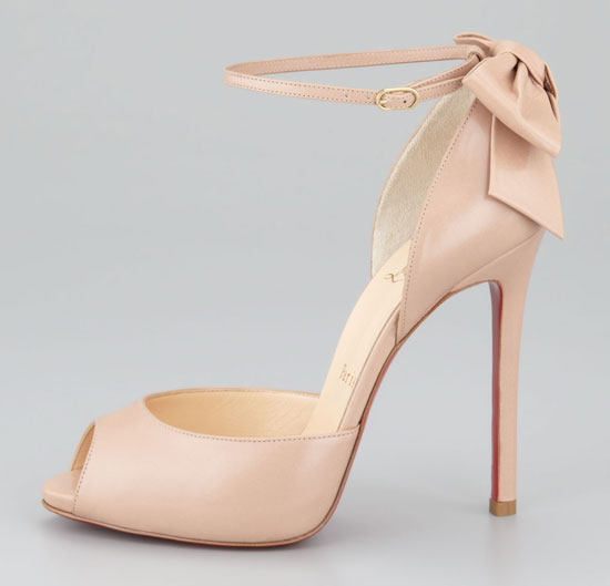 Friday Fix: Christian Louboutin Dos Noeud peep toes with bow