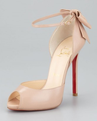 Christian Louboutin Dos Noeud shoes with peep toe and bow on heel