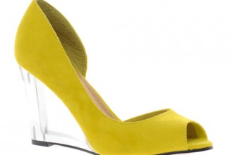 yellow suede wedges