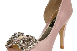 nude bow peep toes from Dorothy Perkins