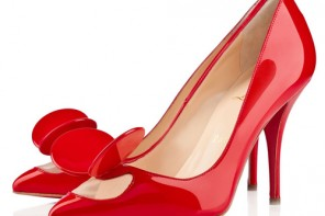 red patent Madame Mouse heels by Christian Louboutin