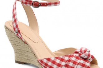 red gingham wedges
