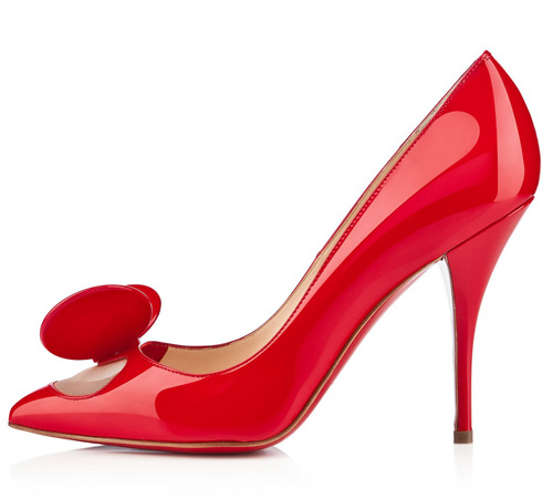 Christian Louboutin Madame Mouse red patent shoes