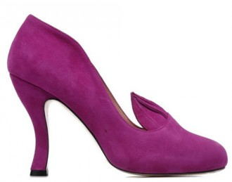 purple high heel with ears