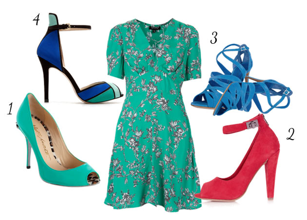 What shoes to wear with a tea length dress
