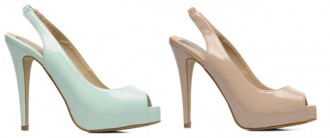 nude and mint slingback shoes