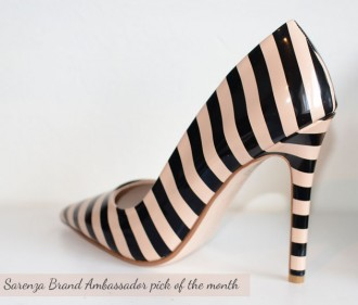 Dune Benefit pointed toe court shoes with striped upper