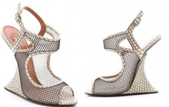 snake print wedge heel shoes