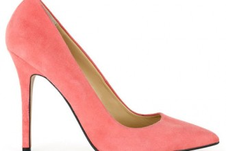 coral stilettos shoes