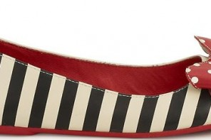 stripe shoes with bows