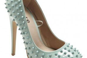 studded mint shoes