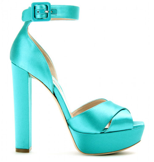 turquoise platform sandals