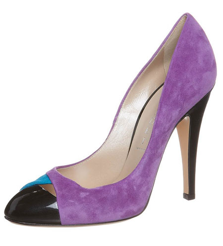 Casadei purple captoe pumps