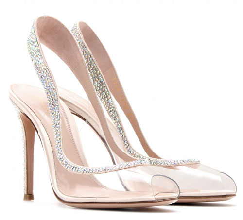 transparent slingback shoes