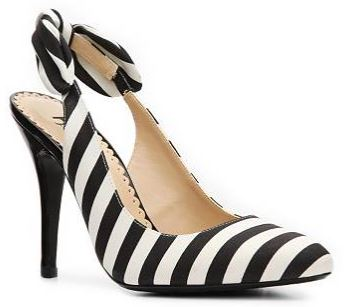 stripe slingbacks with bows