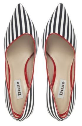 asymmetric stripe shoes