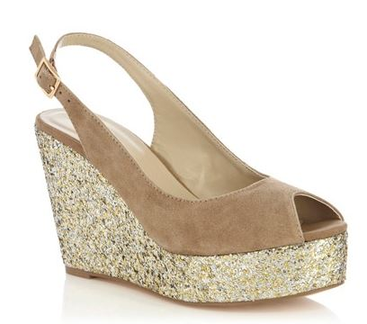 db856206f050 Oasis suede wedge shoes with glitter platforms   Shoeperwoman