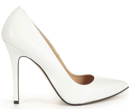 white stilettos